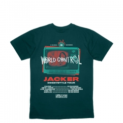 Tee Shirt Jacker World Tour Dark Green 2021 pour , pas cher