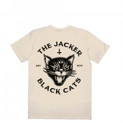 Tee Shirt Jacker Black Cats Beige 2021 pour , pas cher