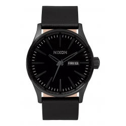 Montre Nixon Sentry Leather All Black 2016