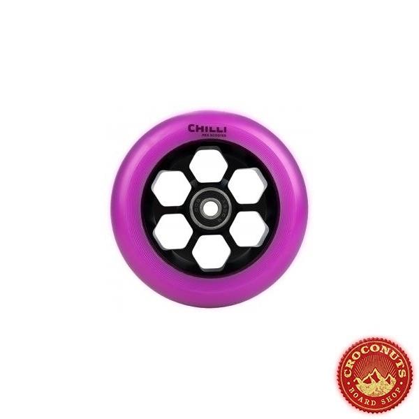 Roue Chilli 110 Violet Noir Honeycomb 110mm 2020