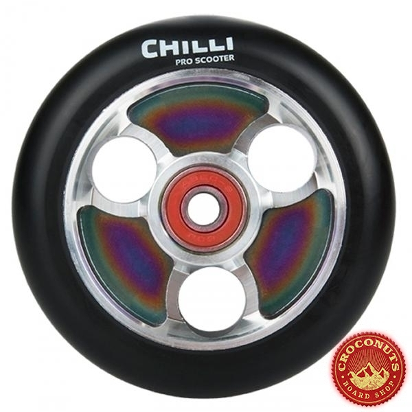 Roue Chilli Rainbow Noir 100mm 2020