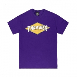 Tee Shirt Thrasher Diamond Logo Purple 2021 pour