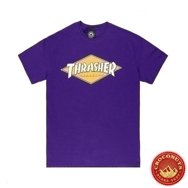 Tee Shirt Thrasher Diamond Logo Purple 2021