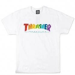 Tee Shirt Thrasher Mag Rainbow 2021 pour