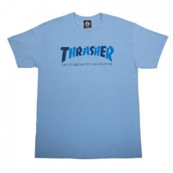 Tee Shirt Thrasher Checkers Carolina Blue 2021 pour
