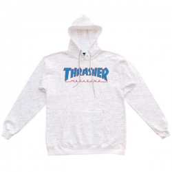 Sweat Thrasher Outlined Hood Ash Grey 2021 pour