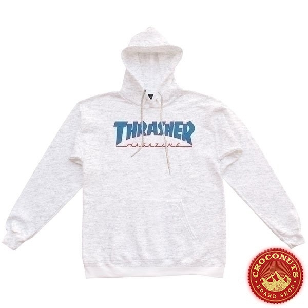 Sweat Thrasher Outlined Hood Ash Grey 2021
