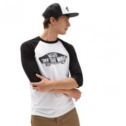 Tee Shirt Vans OTW Raglan White/Black 2021 pour homme