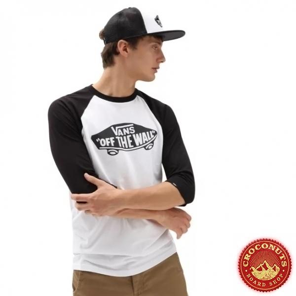 Tee Shirt Vans OTW Raglan White/Black 2021