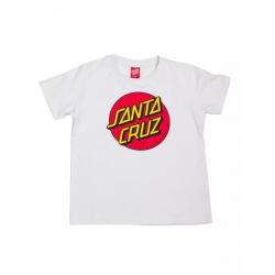 Tee Shirt Santa Cruz Classic Dot White 2020 pour junior