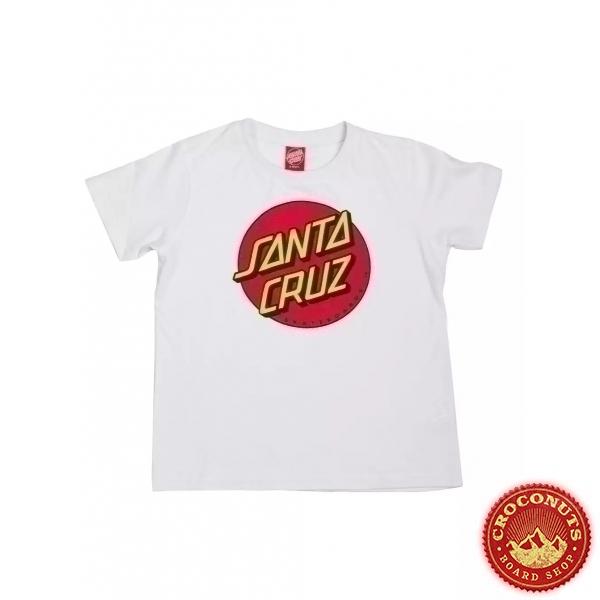 Tee Shirt Santa Cruz Classic Dot White 2020