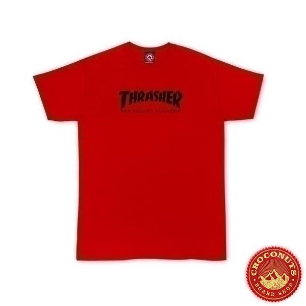 Tee Shirt Thrasher Skate Skate Mag Red 2020