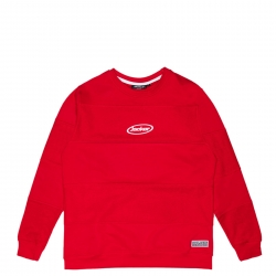 Sweat Jacker Late Sleepers Crewneck Red 2021 pour , pas cher