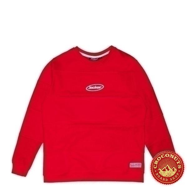 Sweat Jacker Late Sleepers Crewneck Red 2021