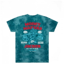 Tee Shirt Jacker Money Makers Teal Tie Dye 2021 pour