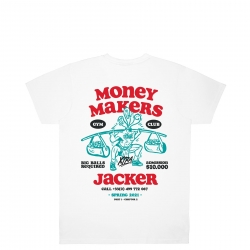 Tee Shirt Jacker Money Makers White 2021 pour