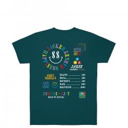 Tee Shirt Jacker Happiness Market Dark Teal 2021 pour , pas cher