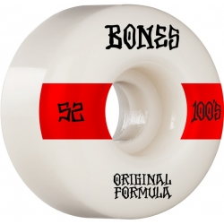 Roues Bones 100's V4 White Wide 2021 pour homme