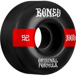 Roues Bones 100's V4 52mm Black Wide 2021 pour homme