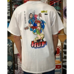 Tee Shirt Huf X Street Fighter ll Chun-Li & Cammy White 2021 pour