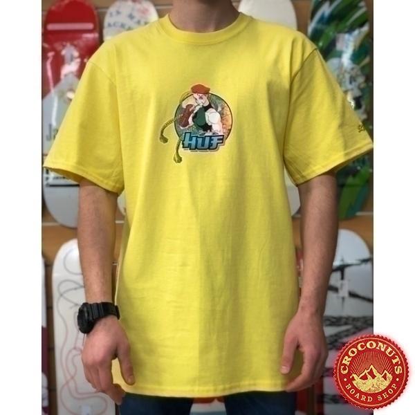 Tee Shirt Huf X Street Fighter ll Cammy Yellow 2021