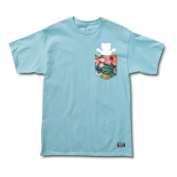 Tee Shirt Grizzly Botanical Pocket Powder Blue 2021 pour
