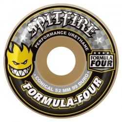 Roues Spitfire Conical Yellow Print 52mm 2021 pour homme