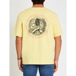 Tee Shirt Volcom Gridlock Dawn Yellow 2021 pour