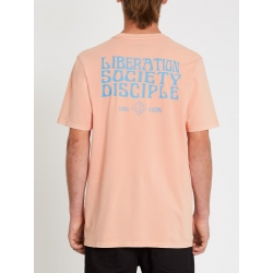 Tee Shirt Volcom Psychonic Clay Orange 2021 pour