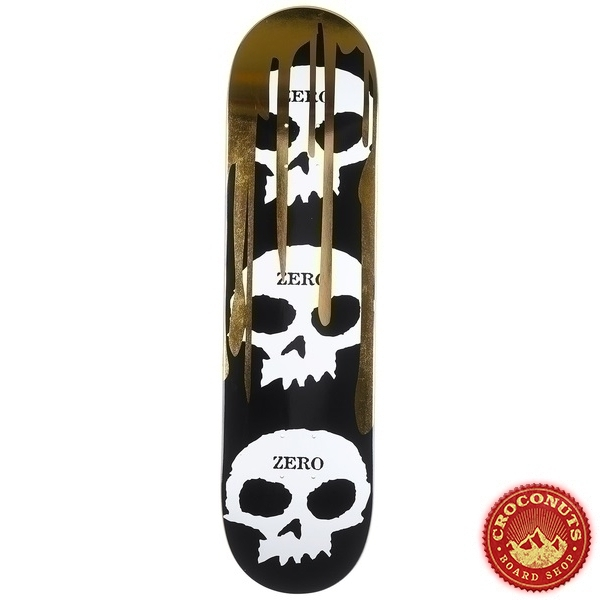 Deck Zero 3 Skull Blood Black White Gold 8.25 2020