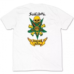 Tee Shirt Dogtown Suicidal Possessed To Skate White 2021 pour homme
