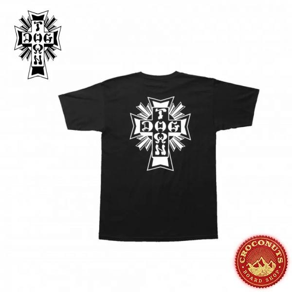Tee Shirt Dogtown Cross Logo Black 2021