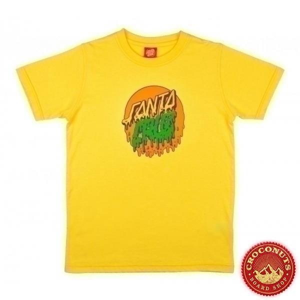 Tee Shirt Santa Cruz Youth Rad Dot Yellow 2021