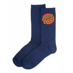 Chaussettes Santa Cruz Dot Socks Dark Navy 2021 pour