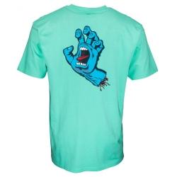 Tee Shirt Santa Cruz Screaming hand Chest Jade Green 2021 pour