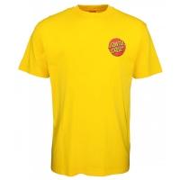 Tee Shirt Santa Cruz Classic Dot Chest Blazing Yellow  2021