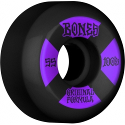 Roues Bones 100's V5 Black Sidecut 55MM 2021 pour homme