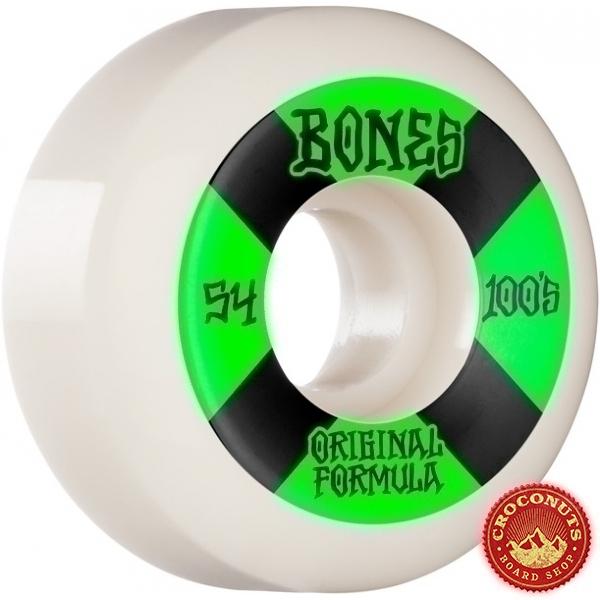Roues Bones 100's V5 White Sidecut 54MM 2021