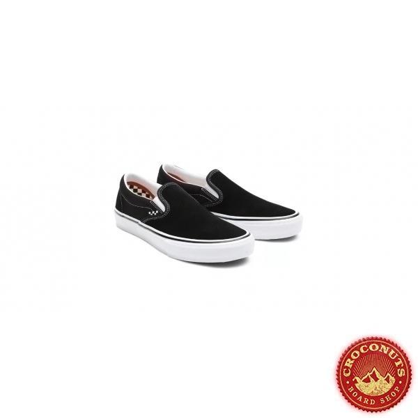 Shoes Vans Skate Slip On Black White 2021