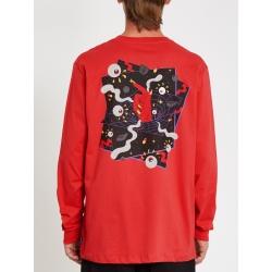 Tee Shirt Volcom Freak City Carmine Red 2021 pour , pas cher