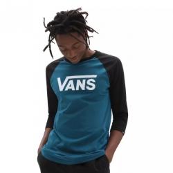 Tee Shirt Vans Classic Raglan Blue Coral Black 2021 pour homme