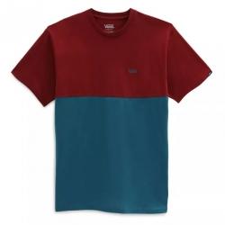 Tee Shirt Vans Colorblock Blue Coral/Pomegranate 2021 pour homme