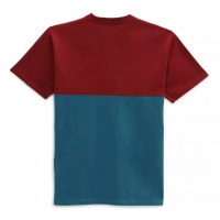 Tee Shirt Vans Colorblock Blue Coral/Pomegranate 2021