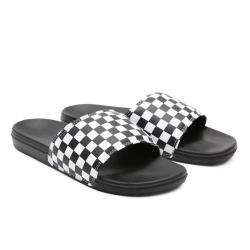 Claquettes Vans Checkerboard White Black 2021 pour