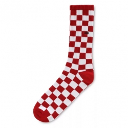 Chaussettes Vans Checkerboard Crew ll Red 2021 pour