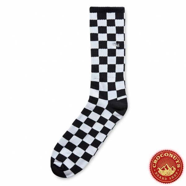 Chaussettes Vans Checkerboard Crew ll Black 2021