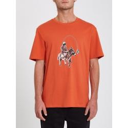 Tee Shirt Volcom Ass Off Burnt Ochre 2021 pour