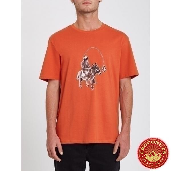 Tee Shirt Volcom Ass Off Burnt Ochre 2021