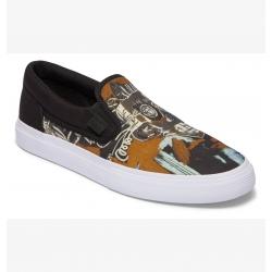 Shoes DC Shoes Manual Slip On Basquiat Black Graphic 2020 pour homme