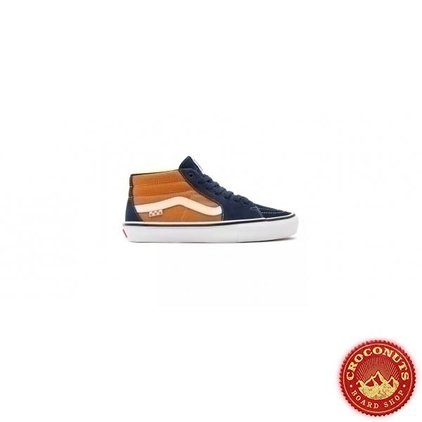 Shoes Vans Skate Grosso Mid Navy Orange 2021